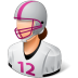 Sport-Football-Player-Female-Light icon
