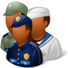 Groups-Military-Personnel-Dark icon