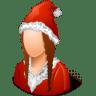 Historical-Santa-Claus-Female icon