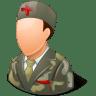 Medical-Army-Nurse-Male-Light icon