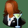 Occupations-Bartender-Female-Dark icon