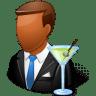 Occupations-Bartender-Male-Dark icon