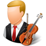 Occupations-Musician-Male-Light icon
