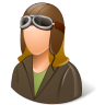 Occupations-Pilot-OldFashioned-Female-Light icon