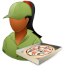 Occupations-Pizza-Deliveryman-Female-Dark icon