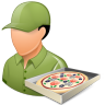 Occupations-Pizza-Deliveryman-Male-Light icon