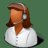 Occupations-Technical-Support-Representative-Female-Dark icon