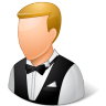 Occupations-Waiter-Male-Light icon