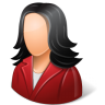 Office-Customer-Female-Light icon