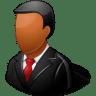 Office-Customer-Male-Dark icon