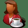 Rest-Person-Coffee-Break-Female-Dark icon