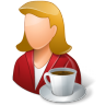 Rest-Person-Coffee-Break-Female-Light icon