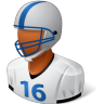 Sport-Football-Player-Male-Dark icon