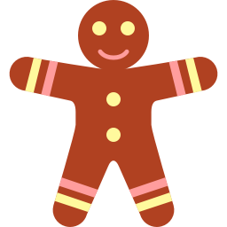 Gingerbread men icon