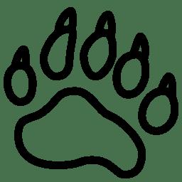 Animals Bear Footprint icon