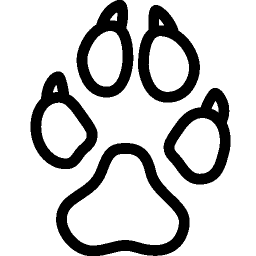 Animals Dog Footprint icon