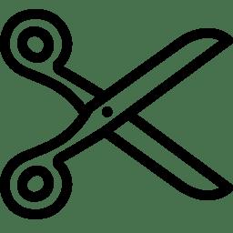 Editing Cut icon