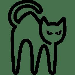 Holidays Black Cat icon