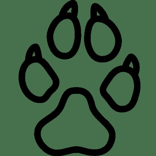 Animals-Dog-Footprint icon
