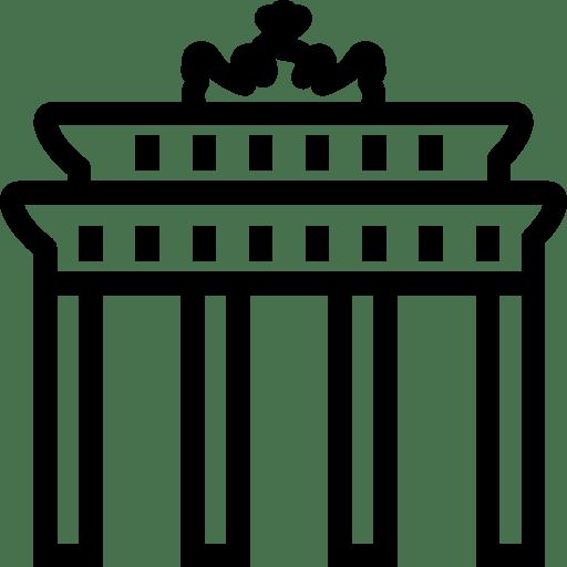 Cultures Brandenburg Gate icon