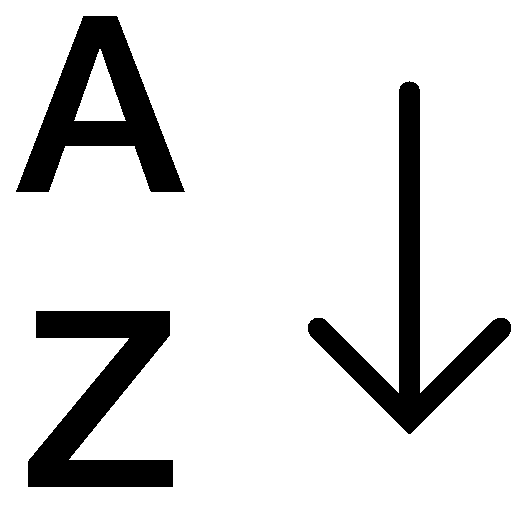 Data-Alphabetical-Sorting-Az icon