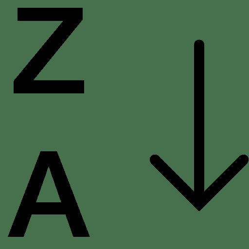 Data-Alphabetical-Sorting-Za icon
