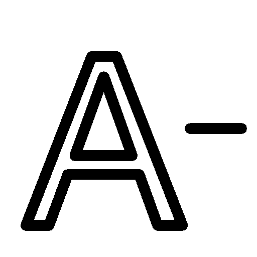 Editing-Decrease-Font icon