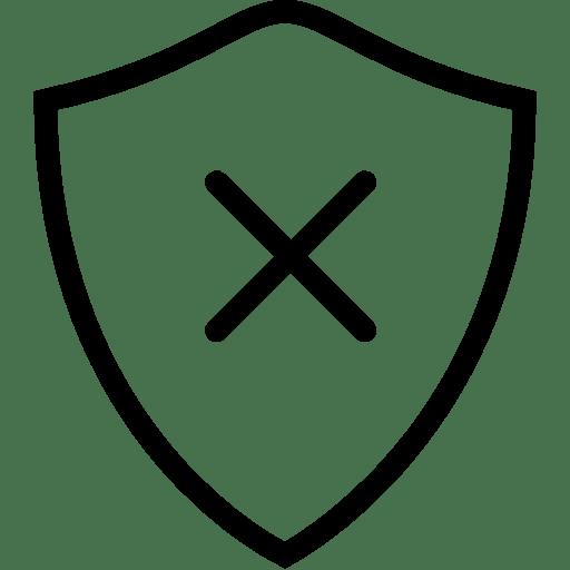 Network Delete Shield icon