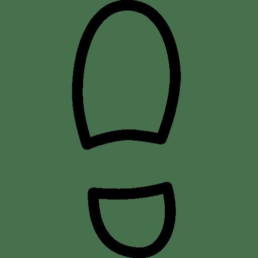 Travel-Left-Shoe icon