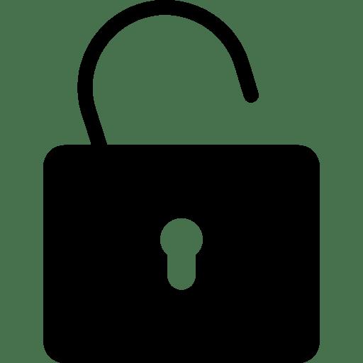 Very-Basic-Unlock-Filled icon