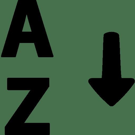 Data-Alphabetical-Sorting icon