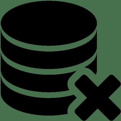 Database-Delete icon