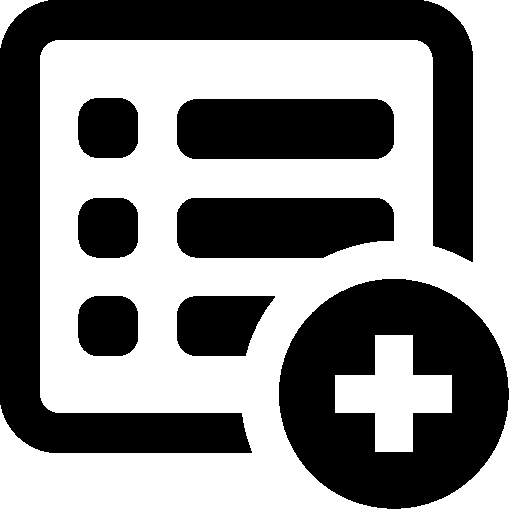Files Add List icon