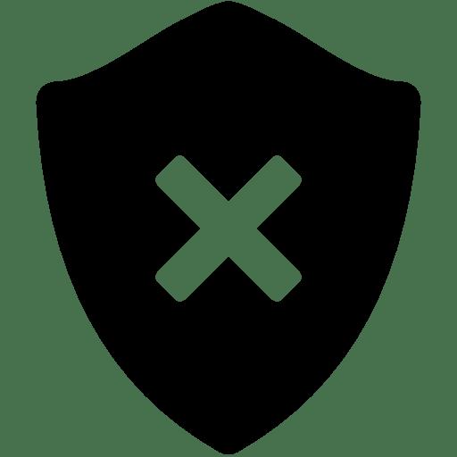 Security-Delete-Shield icon