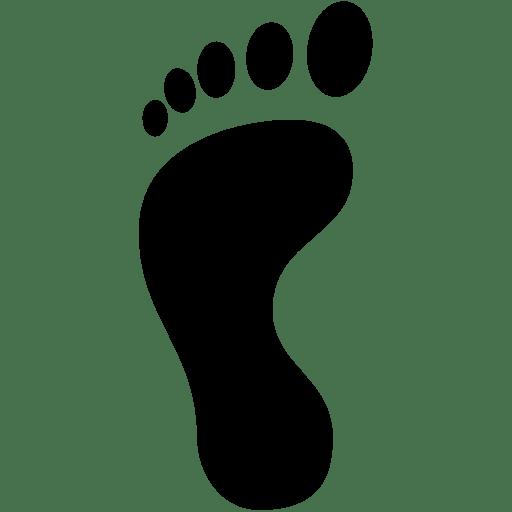 Travel-Left-Footprint icon