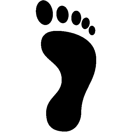 Travel-Right-Footprint icon