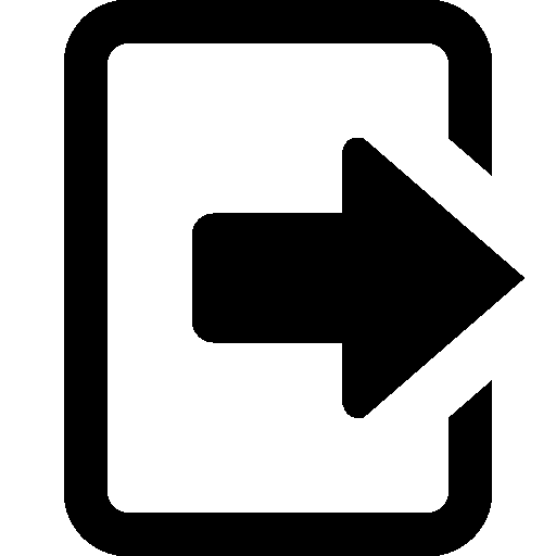 User Interface Logout icon