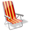 Beach sit icon