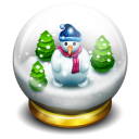Glass-snow-ball icon