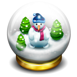 Glass snow ball icon