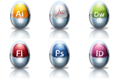 Glossy Adobe Application Icons