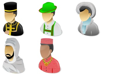 Human Races Icons