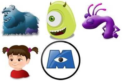 Monsters Inc Icons