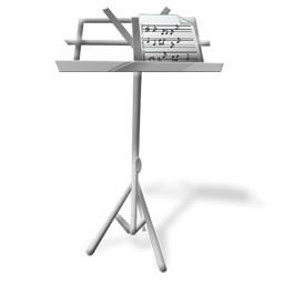Music stand icon