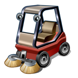Road sweeper icon