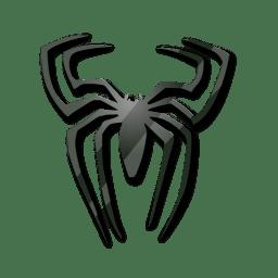 Black spider icon