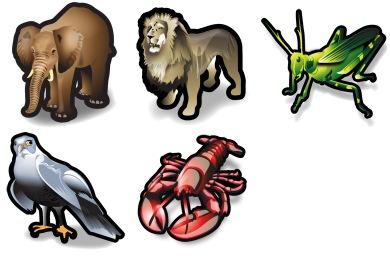 Stroke Animals Icons