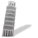Leaning tower of pisa icon