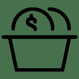 Basket Coins icon