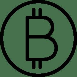 Bitcoin Icon Line Iconset Iconsmind